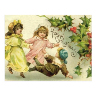 Vintage Children Christmas Postcard