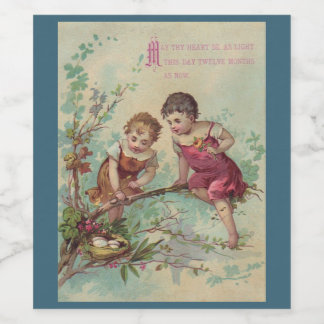 Vintage Children New Years Champagne Labels