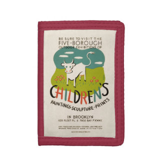 Vintage Children's Art wallets