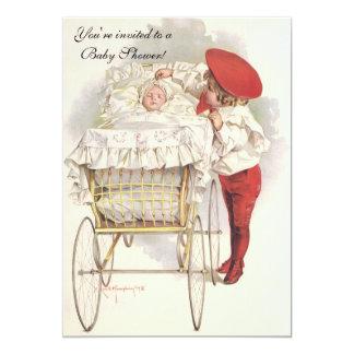 Vintage Children, Victorian Baby Shower Invitation