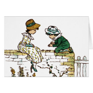 Vintage - Children's Book Illustration Card