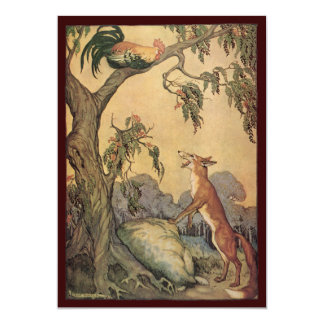 "Vintage Children's Story Book, Aesop's Fables 5"" X 7"" Invitation Card"