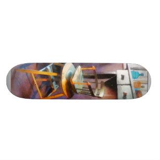 Vintage Child's Barber Chair Skate Board