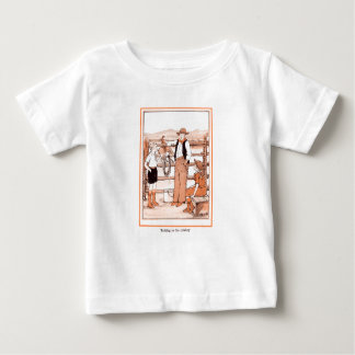 Vintage Child's Book - Talking to the Cowboy Baby T-Shirt