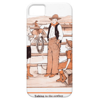 Vintage Child's Book - Talking to the Cowboy iPhone 5 Cover