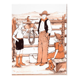Vintage Child's Book - Talking to the Cowboy Letterhead