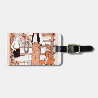 Vintage Child's Book - Talking to the Cowboy Luggage Tag