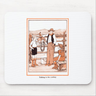 Vintage Child's Book - Talking to the Cowboy Mouse Pad