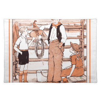 Vintage Child's Book - Talking to the Cowboy Placemat