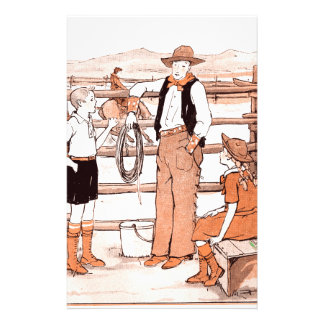 Vintage Child's Book - Talking to the Cowboy Stationery