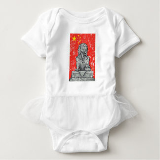 vintage china chines statue baby bodysuit