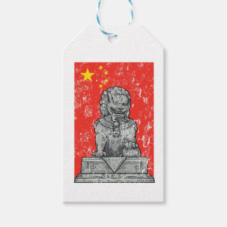 vintage china chines statue gift tags
