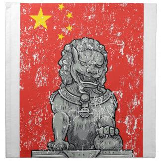 vintage china chines statue napkin