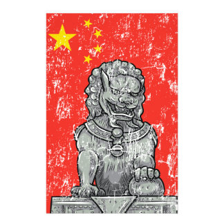 vintage china chines statue stationery