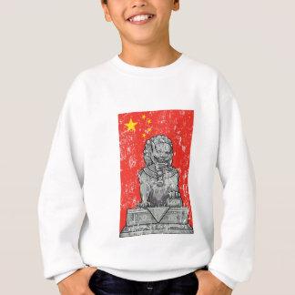 vintage china chines statue sweatshirt