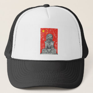 vintage china chines statue trucker hat