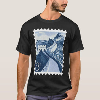 Vintage China Great Wall Postage Stamp Travel Gift T-Shirt