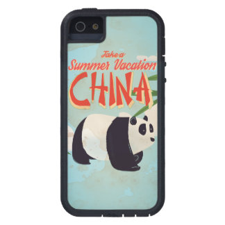 Vintage China Panda Vacation Poster iPhone 5 Case