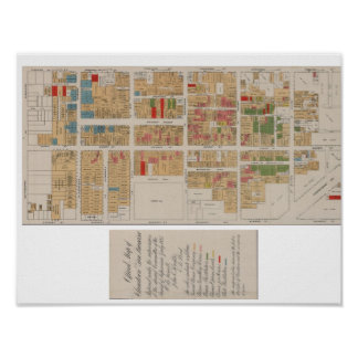 Vintage Chinatown San Francisco Map 1885 Poster