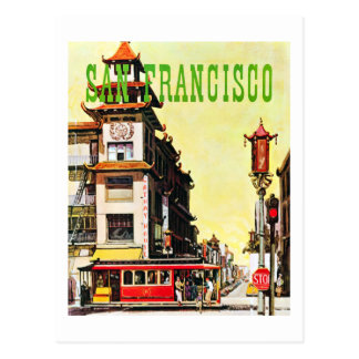 Vintage Chinatown San Francisco Travel Postcard
