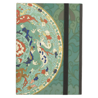 Vintage Chinese Blue Green Land Sea Air Horses iPad Air Cover