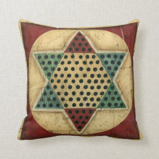 Vintage Chinese Checkerboard by Ethan Harper Throw Pillow