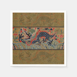 Vintage Chinese Dragon Art Tapestry Artwork Paper Napkin
