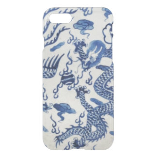 Vintage chinese dragon chinoiserie monaco blue iPhone 8/7 case