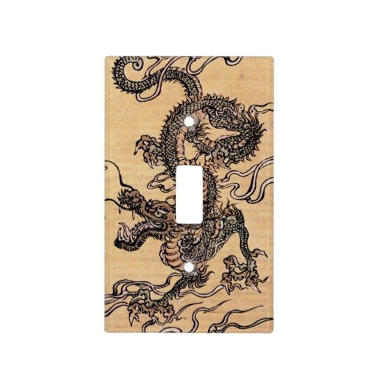 Vintage Chinese Dragon Light Switch Cover