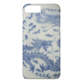 Vintage chinese dragon monaco blue chinoiserie iPhone 8 plus/7 plus case