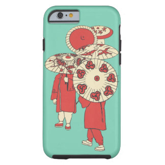 Vintage Chinese Girls & Paper Umbrellas Cell Case