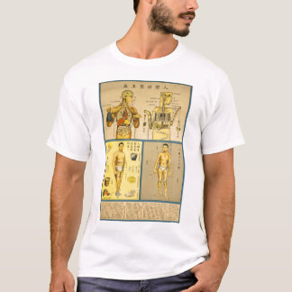 Vintage Chinese Health Anatomy Chart T-Shirt