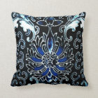 Vintage Chinese in Blue Throw Pillow