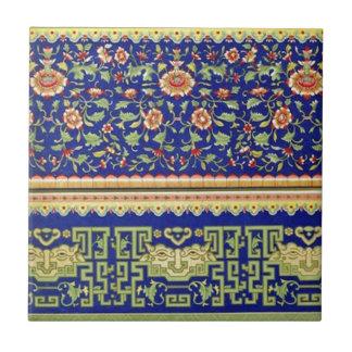 Vintage Chinese Ornamental Art Tile