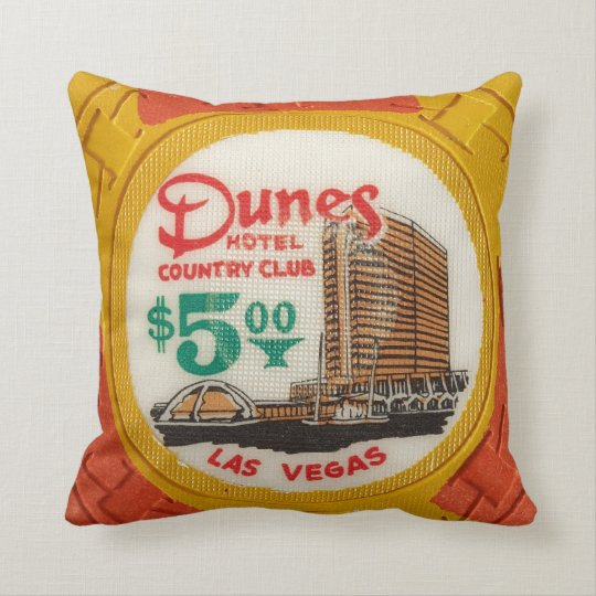 Vintage Chips Poker Party Las Vegas Mancave Decor Throw Pillow