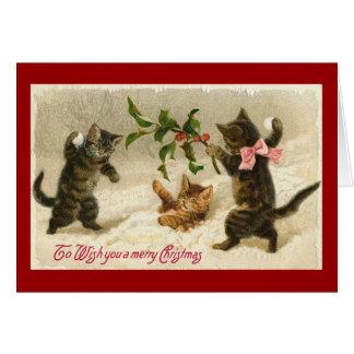 vintage christman cats card