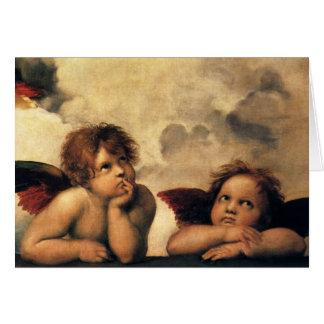 Vintage Christmans, Renaissance Angels by Raphael Card