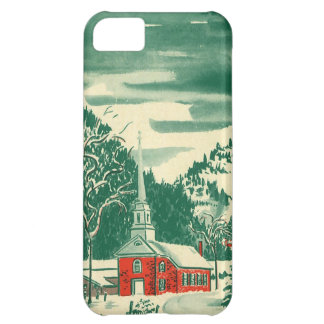Vintage Christmas, a Church Snowscape in Winter iPhone 5C Cover