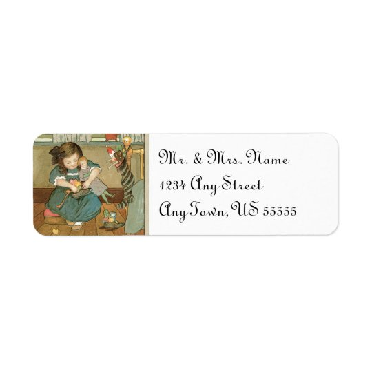 Vintage Christmas Address Labels