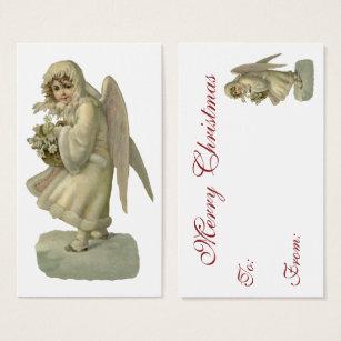Die business cards business card printing zazzle ca vintage christmas angel flowers victorian die cut business card reheart Gallery