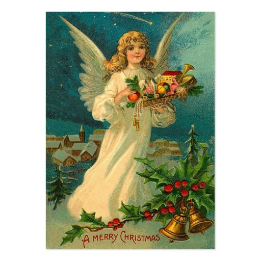 Vintage Christmas Angel Gift Tags Business Cards