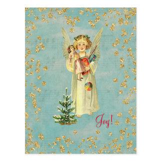 Vintage Christmas Angel Joy! Postcard