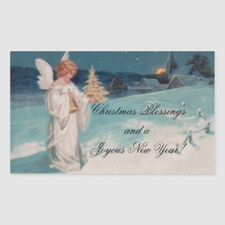 Vintage Christmas Angel Sticker