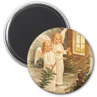Vintage Christmas Angels Magnet