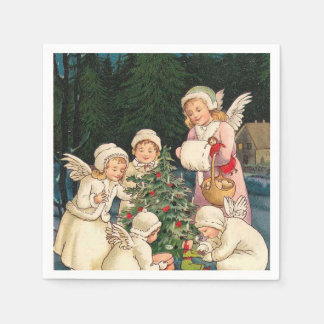 Vintage Christmas Angels paper napkins