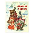 Vintage Christmas, Animal music group Postcard
