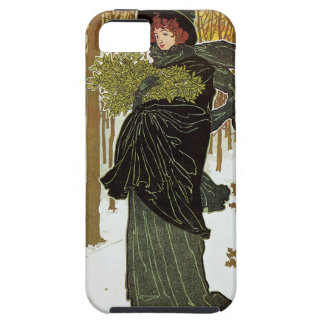 Vintage Christmas Art Nouveau Scribners Cover 1895 iPhone 5 Cover