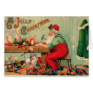 Vintage Christmas at Santa's Workshop Card
