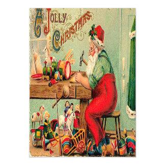 Vintage Christmas at Santa's Workshop Magnetic Invitations
