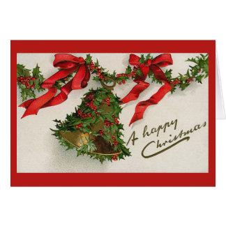 Vintage Christmas Bell Card